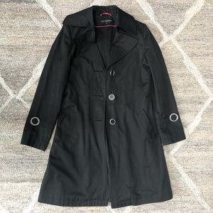 💘Water Resistant Black Trench Coat / Rain Coat